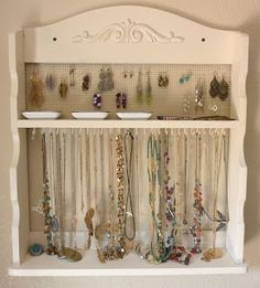convert an old spice rack into a beautiful and functional Jewelry Rack