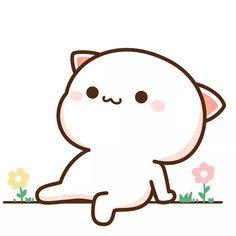 蜜桃猫 Cute Animal Drawings Kawaii, Cute Cartoon Drawings, Cute Kawaii Animals, Cute Cartoon Images, Cute Couple Cartoon, Cute Cartoon Wallpapers, Griffonnages Kawaii, Chat Kawaii, Cute Love Pictures