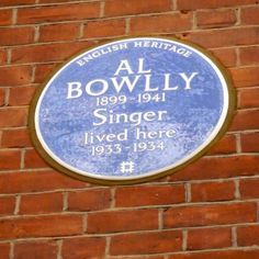 Al Bowlly, blue plaque in London