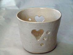 Windlicht-Keramik+Lüsternweiss+von+keramik+milada+auf+DaWanda.com