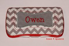 Boutique+Personalized+Baby+Grey+and+White+Chevron+by+sews4queens,+$15.00