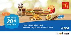 McDonalds Promo Reward BCA http://www.perutgendut.com/read/mcdonalds-promo-reward-bca/1800 #Promo #Food #Kuliner #Indonesia