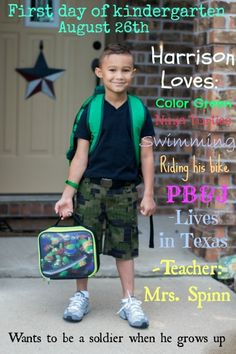 How to make you very own DIY First day of school milestone photo!!!