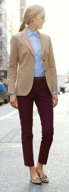 White under shirt, longer slacks