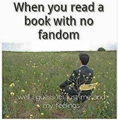 When you read a book with no fandom