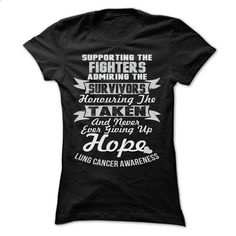 Support - Lung Cancer - #shirt design #t shirt designs. BUY NOW =>…