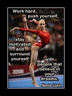 """Gymnastics Motivation Nastia Liukin Photo Quote Poster Wall Art 5x7""""- 11x14"""" Surround Yourself With People That Believe In U & UR Dreams by ArleyArt on Etsy"""