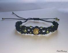 #Black #bracelet #witchy #bracelet #knotted bracelet #dark by TidalFantasy