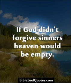 We're all sinners...