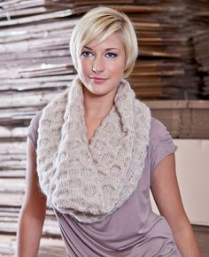 Because my knitting skills are not equal to the task... Any takers??  Gawler Cowl - free knit pattern