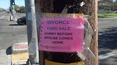 divorce sign
