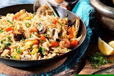 Κριθαράκι με λαχανικά και όστρακα Greek Cooking, Food Categories, Greek Recipes, Seafood, Recipies, Cooking Recipes, Ethnic Recipes, Sea Food, Recipes