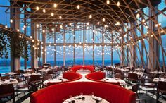 SushiSamba designed by CetraRuddy (view of double height main dining room)