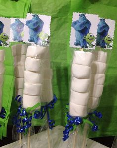 Monsters Inc Party Favors Marshmallows Party by FantastikCreations