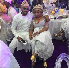 Jennifer Obayuwana & fiancee at Ooni of Ife's wedding(Photos)