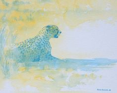 """Towards Evening, watercolor on paper 8x10"""" by Alison Nicholls"""