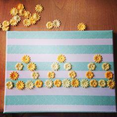 #sorority #craft #greek #gifts #tridelta #diy #flowers #stripes #pretty