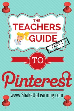 """""""I'm surprised to find out how many educators are still not using Pinterest! So I've decided to put together this guide to help new users get started, and help more advanced users find great educational content. So why not use the summer to get acquainted with Pinterest and find some great resources for the next school year!  Guys, Pinterest is not just for the ladies! I have a brother-in-law with a """"Man Cave,"""" board to prove it! Give it a shot."""