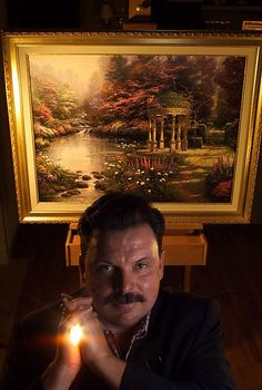 Thomas Kinkade, popular Bay Area artist, dies. He always was my favorite artists and still is.  He will be missed dearly.  RIP Thomas Kinkade.