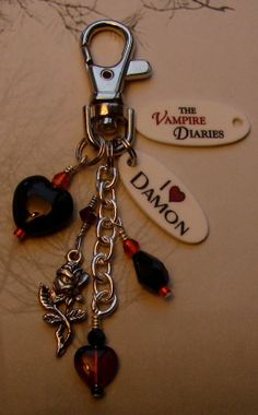 The Vampire Diaries I Heart DAMON Keychain Purse by cindesign, $9.95 - someone..anyone.. get me this!