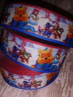 NEW ARRIVAL -  Pooh and Friends Winter Wonderland Grosgrain Ribbon by ILoveYouMoreCreation on Etsy