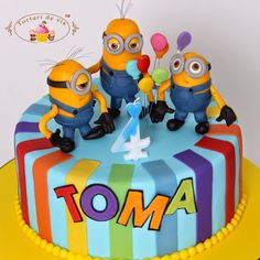Tort cu Minions pentru Toma