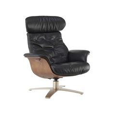 modern leather recliner man chair dania kasala black leather