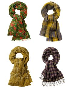 Patterned scarves for fall