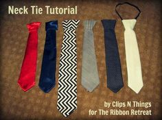 Boys Fashion : DIY Neck Tie Tutorial.  Not sure if this is great, but will check it out later.