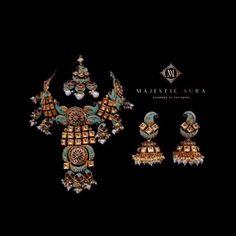 Visit Majestic Aura's collection of exquisite Indian and Pakistani Jewelry online. Pakistani Jewelry, Indian Wedding Jewelry, Indian Jewelry, Bridal Jewelry, Brass Jewelry, Jewelery, Diamond Jewellery, Diamond Earrings, Kundan Set