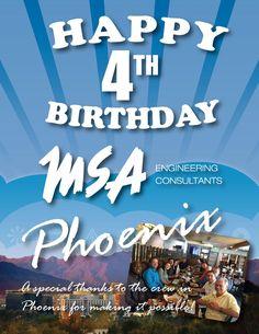 MSA Engineering Consultants Phoenix celebrates our 4th year! Thank You Arizona!