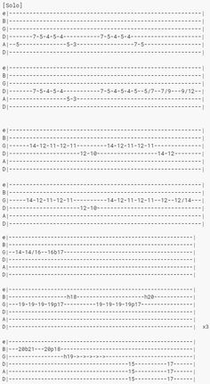 10 Easy Guitar Solos and How To Play Them Easy Guitar Tabs, Music Theory Guitar, Guitar Chords And Lyrics, Guitar Chords For Songs, Guitar Sheet Music, Guitar Solo, Guitar Notes, Piano Songs, Guitar Chord Progressions