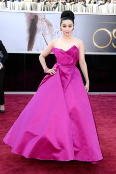 Fan Bingbing picked bright, bright Marchesa for the Oscars