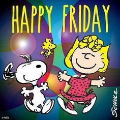 """Happy Friday!!!  #goodmorning #friday #snoopy #woodstock #sally #peanuts"""""""
