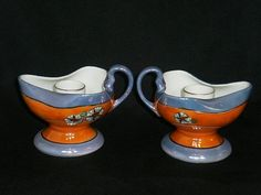 Vintage Art Deco Lusterware Noritake Chambersticks Vintage Decor, Vintage Art, Art Deco, Candle Sticks, Noritake, Luster, Fun Things, Candle Holders, Decorating Ideas