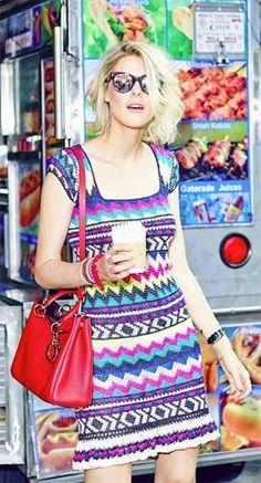 Vanessa Montoro coleção verão 2015 vestido crochê colorido