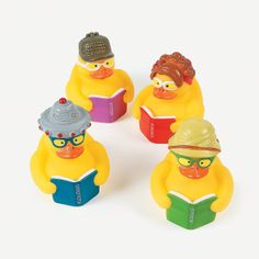 Reading Rubber Duckies - OrientalTrading.com (Use for Duck Duck Dewey)