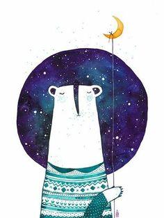 bear with moon