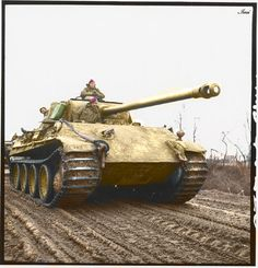 Panther. Captured PzKpfw V (Panther) by British forces