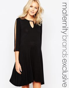 Bluebelle Maternity Swing Dress With Keyhole Detail