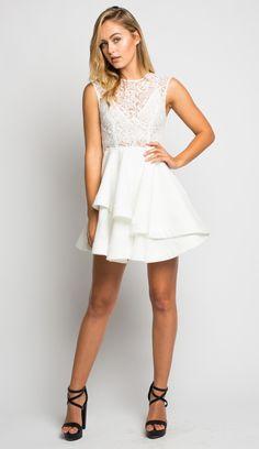 white lace skater dress - Google Search