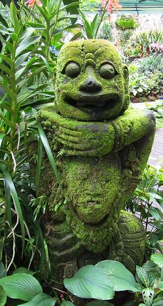 Moss Covered Sculptures