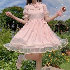 Girly Outfits, Pretty Outfits, Pretty Dresses, Cute Outfits, Kawaii Dress, Kawaii Clothes, Cute Fashion, Fashion Outfits, Girl Fashion