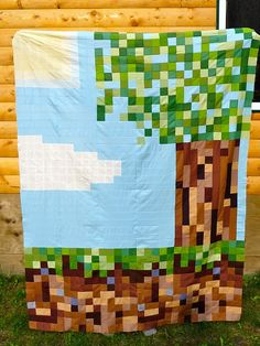 Mandy.  Just thought your boys would like this. Another Minecraft quilt idea.