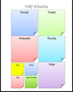 Sticky Note Schedule - free