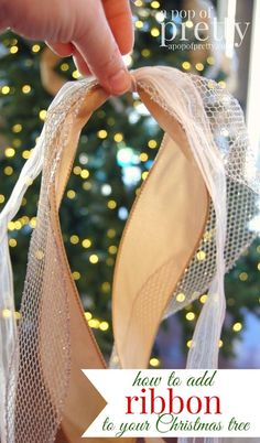 how to add ribbon to a christmas tree decorating blog and holidays. Black Bedroom Furniture Sets. Home Design Ideas