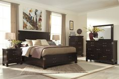 Haddigan King Bedroom Group by Signature Design by Ashley Bedroom Chest, King Bedroom Sets, Queen Bedroom, Bedroom Furniture, Master Bedroom, Furniture Design, White Wicker Furniture, Gamer Room, Nebraska Furniture Mart