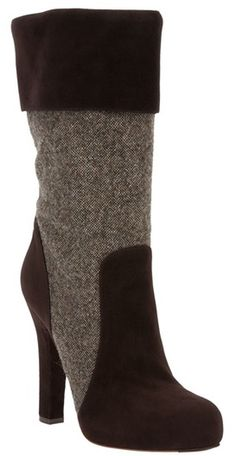 Dolce & Gabbana Midcalf Boot in Brown - totally gorgeous !