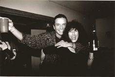 Birthday party - actor Pato Hoffmann with his girlfriend Maru Pérez - Viana (23.8.1996).