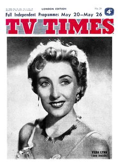 TV Times, May 1956. (Vera Lynn)